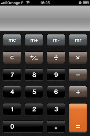 Calculator app splash screen