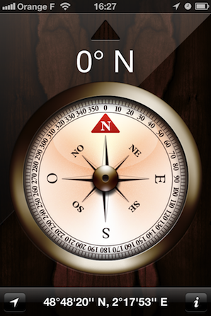 Compass app screen