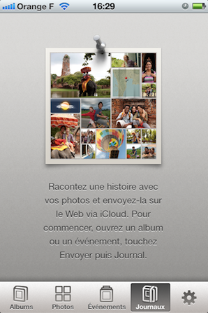 iPhoto app screen