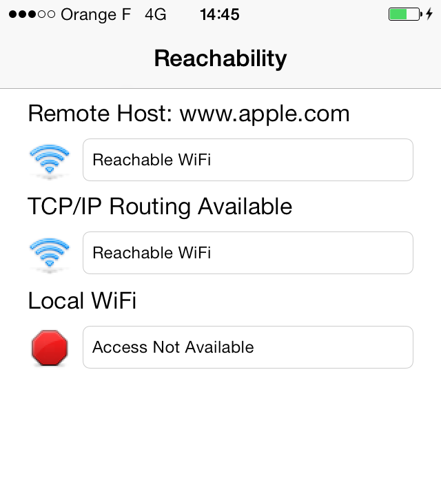 Reachability sample 64-bit