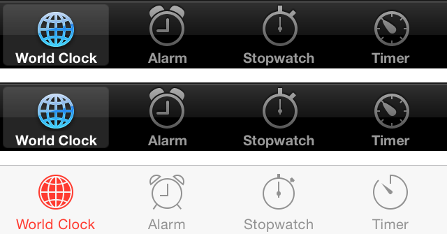 Clock Tab bar Evolution
